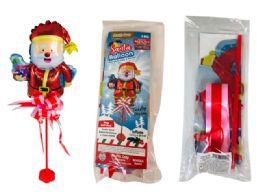 """144 Wholesale Santa Balloon 11.4""""X17"""" W/ Stand W/ Bow"""