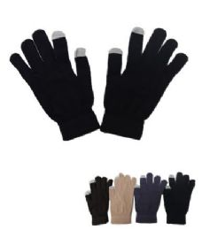 60 Units of Men's Touch Gloves - Knitted Stretch Gloves