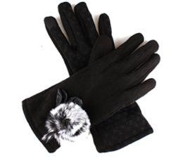 144 Bulk Ladies Leather Winter Gloves