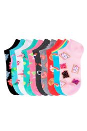 150 Units of SOFRA WOMEN'S NOVELTY NO SHOW 9-11 - Womens Ankle Sock