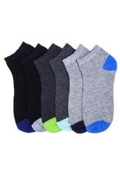 216 Units of SPAK L.WEIGHT SPANDEX SOCKS 4-6 - Boys Ankle Sock