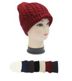 72 Units of Ladies Solid Color Beanies - Winter Hats