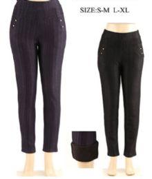 60 Units of Womens Fashion Black Pants - Womens Pants