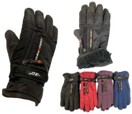 12 Units of Woman Gloves with Inside Lining and Anti-Slip Grip - Winter Gloves