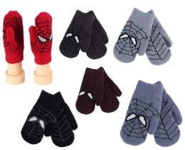 12 Units of Kids Winter Glove Spider style - Kids Winter Gloves