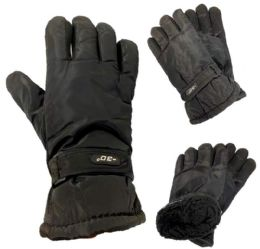 12 Units of Black Mens Winter Gloves - Winter Gloves
