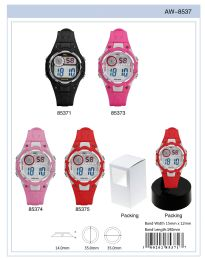 12 Units of Digital Watch - 85374 Assorted Colors - Watches