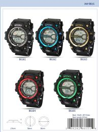 12 Units of Digital Watch - 86161 Assorted Colors - Watches