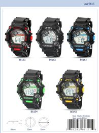 12 Units of Digital Watch - 86154 Assorted Colors - Watches