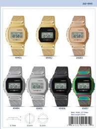 12 Wholesale Digital Watch - 49491 assorted colors