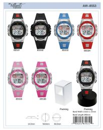 12 Wholesale Digital Watch - 85532 assorted colors