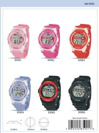 12 Wholesale Digital Watch - 85906 assorted colors