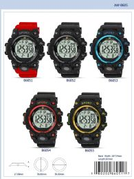 12 Wholesale Digital Watch - 86051 assorted colors