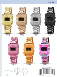 12 Wholesale Digital Watch - 49803 assorted colors