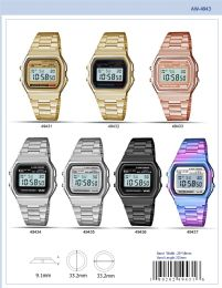 12 Wholesale Digital Watch - 49435 assorted colors