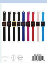 12 Wholesale Digital Watch - 46819 assorted colors