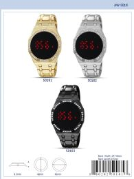 12 Wholesale Digital Watch - 50183 assorted colors