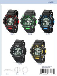 12 Wholesale Digital Watch - 86174 assorted colors