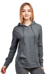 24 Units of COTTONBELL LADIES THIN PULLOVER HOODIE SIZE L - Womens Sweaters & Cardigan