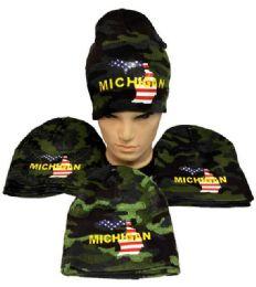 12 Units of Winter Beanie Michigan Camo - Winter Beanie Hats