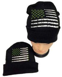 12 Units of Marijuana Flag Winter Beanie Hat - Winter Beanie Hats