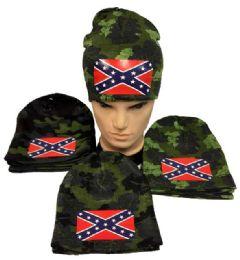 12 Units of Camo Rebel Hat winter Beanie - Winter Beanie Hats