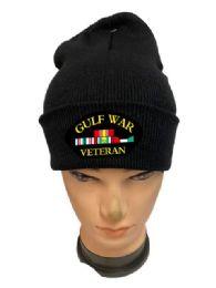 48 Wholesale Black color Winter Beanie Gulf War Veteran