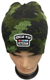 48 Wholesale Korean War Veteran Camo Winter Beanie