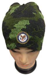 48 Wholesale United States Veteran Camo Winter Beanie