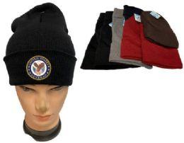 48 Wholesale United States Veteran Mix color Winter Beanie