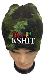 48 Units of Don't Ask Me 4 Shit Camo Winter hat - Winter Beanie Hats