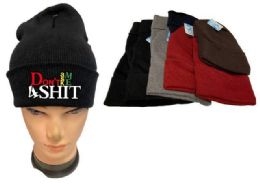 48 Units of Don't Ask Me 4 Shit Mix Winter hat - Winter Beanie Hats