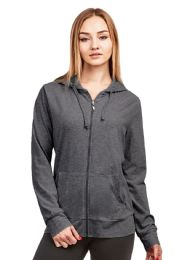24 Units of COTTONBELL LADIES THIN ZIP-UP HOODIE JACKET SIZE L - Womens Sweaters & Cardigan