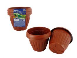 24 Units of 3pc Flower Pot Planter - Garden Planters and Pots
