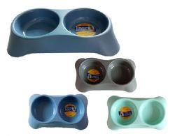 24 Wholesale 2-Section Pet Bowl
