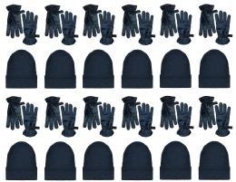 24 Units of Yacht & Smith Wholesale Ski Glove and Beanie Set for Men - Winter Care Sets