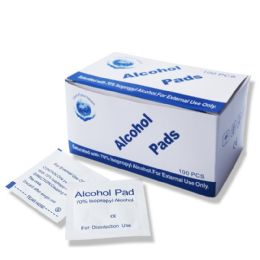 400 Bulk 70% Isopropyl Alcohol Cleansing Pads , First Aid Cleaning Pads