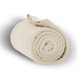 24 Units of Fleece Blankets/throw -Cream - Fleece & Sherpa Blankets