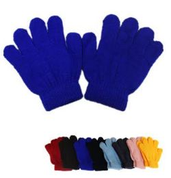 60 Units of Kids Magic Gloves Assorted Colors - Kids Winter Gloves