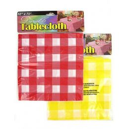 72 Units of Durable Plastic Tablecloth - Table Runner
