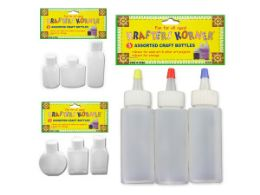 36 Units of Craft Bottles 3 Pack - Craft Container and Storage