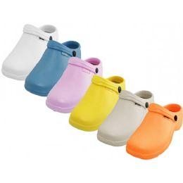 24 Units of Women's Sport Close Toe Rubber Nursing Clogs - Women's Flip Flops