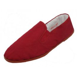 36 Units of Men's Slip On Twin Gore Cotton Upper With Rubber - Men's Slippers