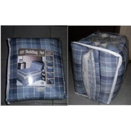 8 Units of 8 Piece Bedding In A Bag Set - Twin - Bed Sheet Sets