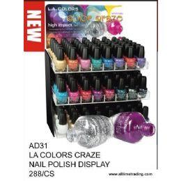 288 Units of La Color Craze Nail Polish With Display - Nail Polish