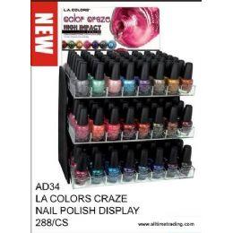 288 Units of La Color Craze Nail Polish Display - Nail Polish