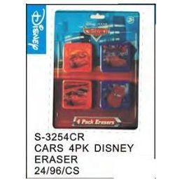 48 Bulk Cars 4pack Eraser