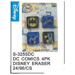 96 Bulk Dc Comics 4pack Eraser