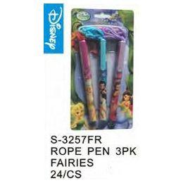 96 Bulk Fairies Pens On A Rope 3 Pack
