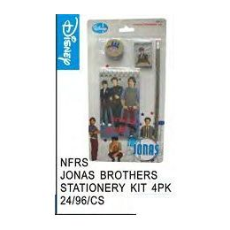 96 Bulk Jonas Bros Stationery Kit 4 Pack